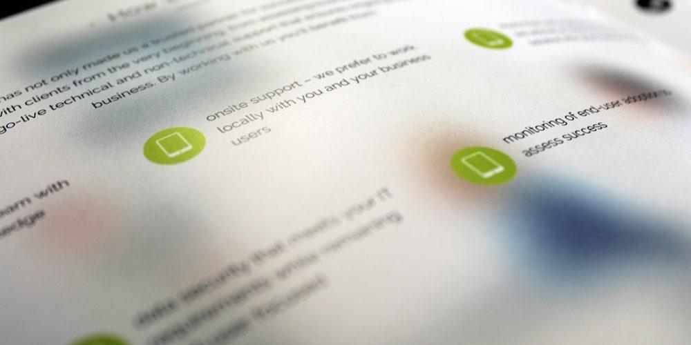 Rocksolid analytics brochure design
